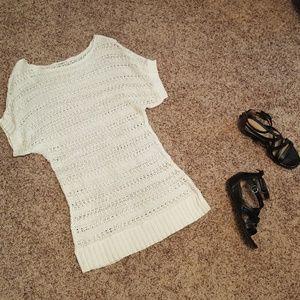 Cato-White Tunic Sweater